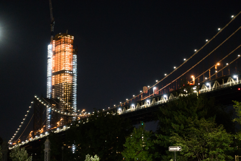 View from Dumbo at night